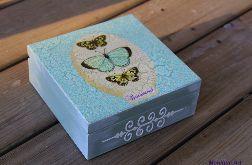 Pudełko na drobiazgi, motyle, prezent