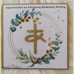 zaproszenia na I Komunię Św. wz7 - 7b