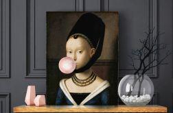 Obraz płótno dziewczyna z balonem 70x100 cm