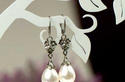 Kolczyki z białymi perlami Elza a797-kol