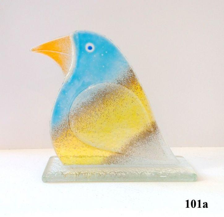 Ptak ze szkła fusing mały - B2