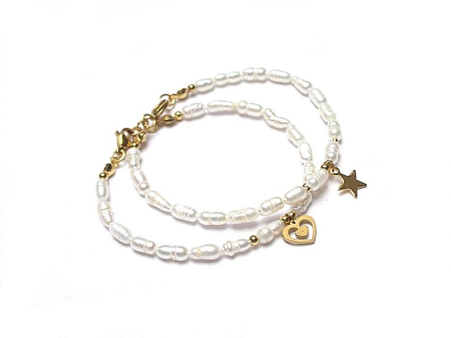 Pearls /white/ perły naturalne vol. 2-bransoletka