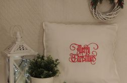 Poszewka z haftem 50x50cm - Merry Christmas
