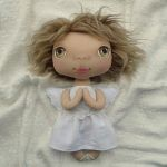 ANIOŁEK lalka - dekoracja tekstylna, OOAK/26 - tak wyglądam w całości