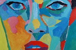 obraz olejny face