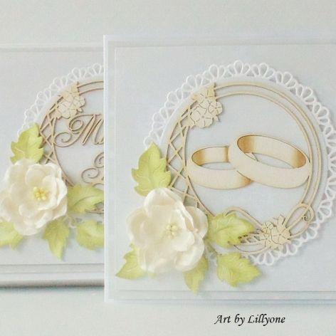 Obrączki na ślub w ozdobnym pudełku
