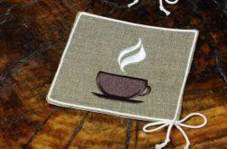 Kawowe podkładki pod kubki pierwsze