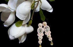 Kolczyki ślubne pudrowy róż SWAROVSKI