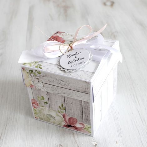 Pudełko - exploding box -ślub 2