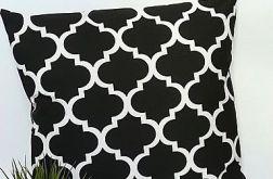 Poduszka bawełniana,czarne maroko,50x50cm.