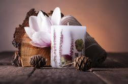 Dla Mamy-świeca z naturalnymi kwiatami-horten