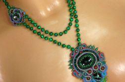 Zielono- naszyjnik sutasz, kolorowy, zielony