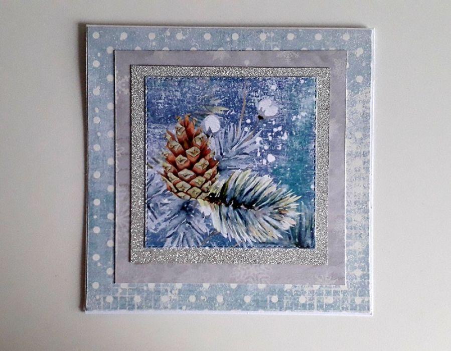 Kartka świąteczna Boże Narodzenie gałązka