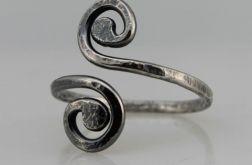 Zawijasy - srebrny pierścionek 190710-04
