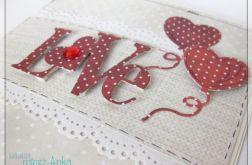 Kartka na Ślub z napisem LOVE 5