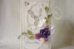Srebrzysta z fioletem na ślub