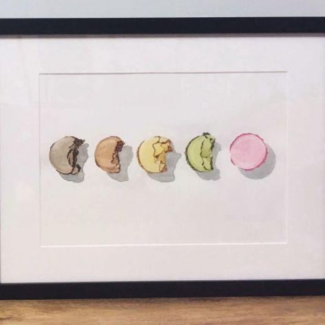 Kolorowe ciastka, cyfrowy wydruk akwareli