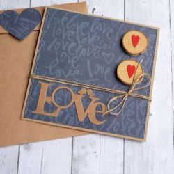 KARTKA ŚLUBNA :: LOVE :: GRANAT