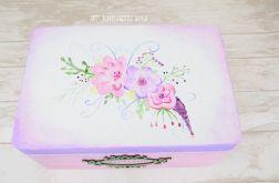 Kufer ręcznie malowany RUSTIC FLOWERS
