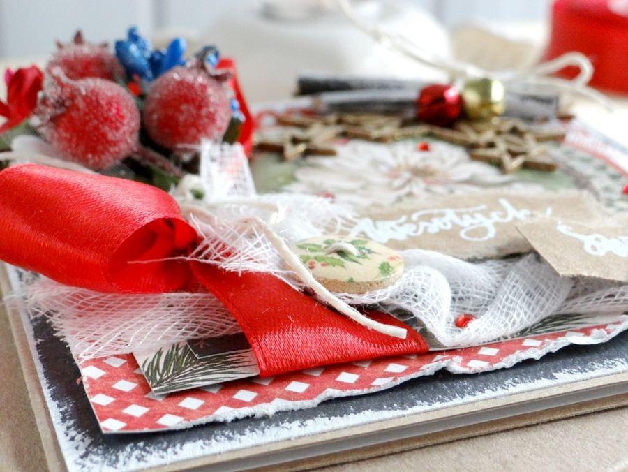 Kartka świąteczna w pudełku VINTAGE #1 - Detal2