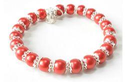 4037 bransoletka szklane perły