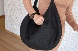 Czarna torba duża XXL boho