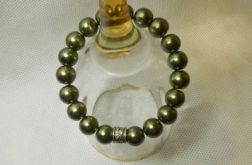 53. Bransoleta z pereł szklanych 10mm