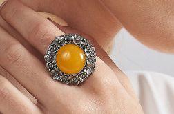 Corine srebrny pierścień z agatem