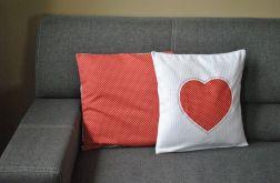 2 poszewki dekoracyjne - truskawkowe serce