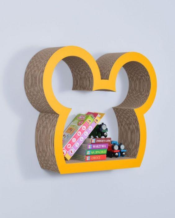 Półka na książki MYSZKA | żółty