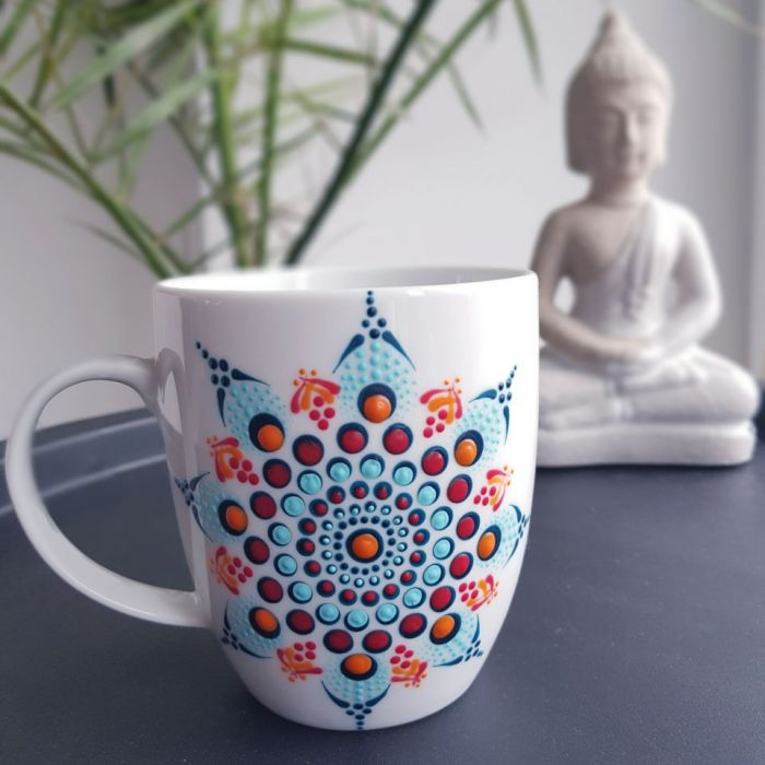 Ręcznie malowany porcelanowy kubek Paula