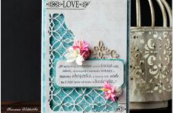 Ażurowy narożnik- ślubna karta #6