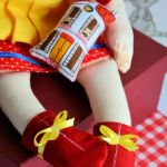 Lalka ręcznie malowana Rozalka 50 cm + brelok