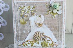 Kartka ślubna 3D Nowożeńcy, na ślub