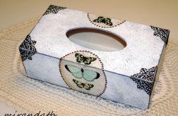 Chustecznik motyle koronka vintage