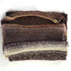 komplet w beżobrązach - czapka i szal