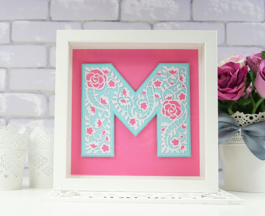 Monogram w shadow box