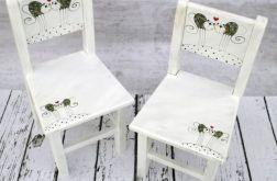krzesełko z oparciem koty dwa