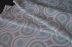 Ładny błękitny bieżnik w łezki - 40 x 96 cm