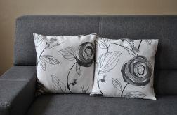 Poszewka dekoracyjna -  szare róże