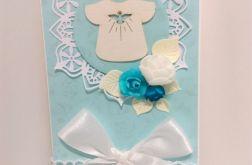 Kartka na Chrzest niebieska