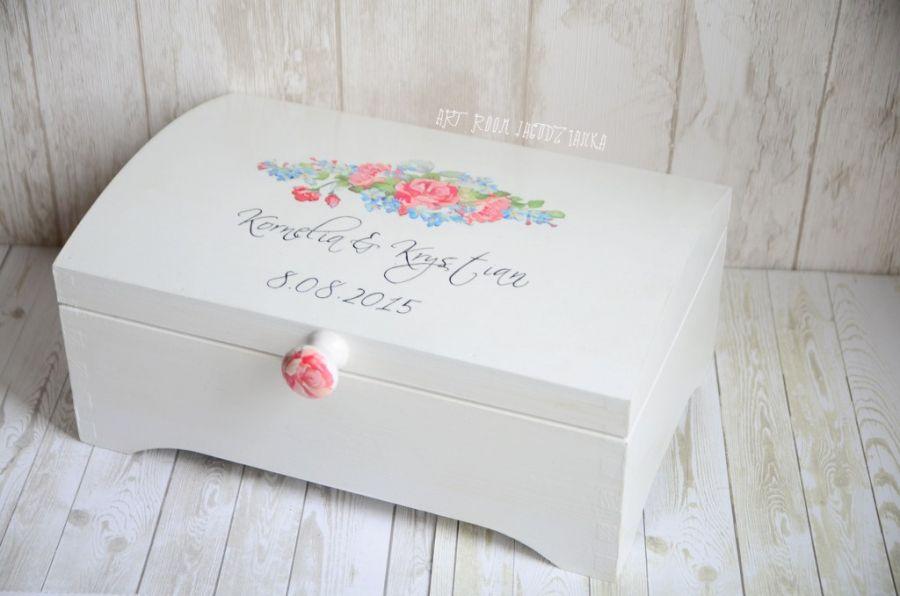 Kufer ślubny RUSTIC FLOWERS extra