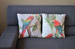 Poszewka dekoracyjna - kolorowa papuga