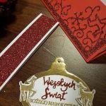 Kartka bożonarodzeniowa z zawieszką KH2012005 - Kartka świąteczna z bombką