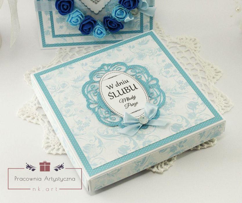Duet ślubny - kartka w pudełku 03