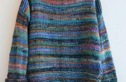 Melanżowy sweterek oversized