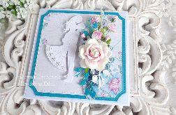 Ślubna kartka w pudełku 358
