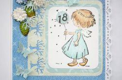Kartka na 18-tkę z aniołkiem