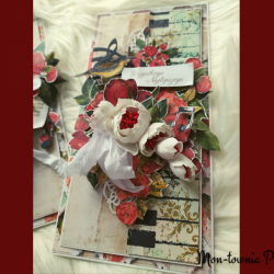 Kartka okolicznościowa Róże ptaszek