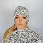 Zimowy komplet czapka i szal